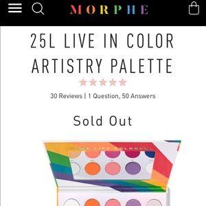 BNIB Morphe 25L Eyeshadow Palette